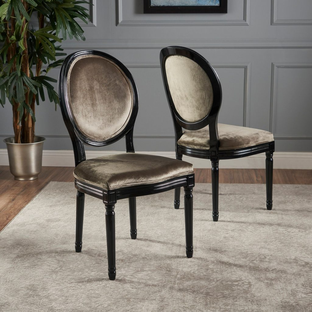 Camille Velvet Fabric Dining Chair Set Of 2 Christopher Knight
