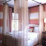 Bedroom Curtains around Bed