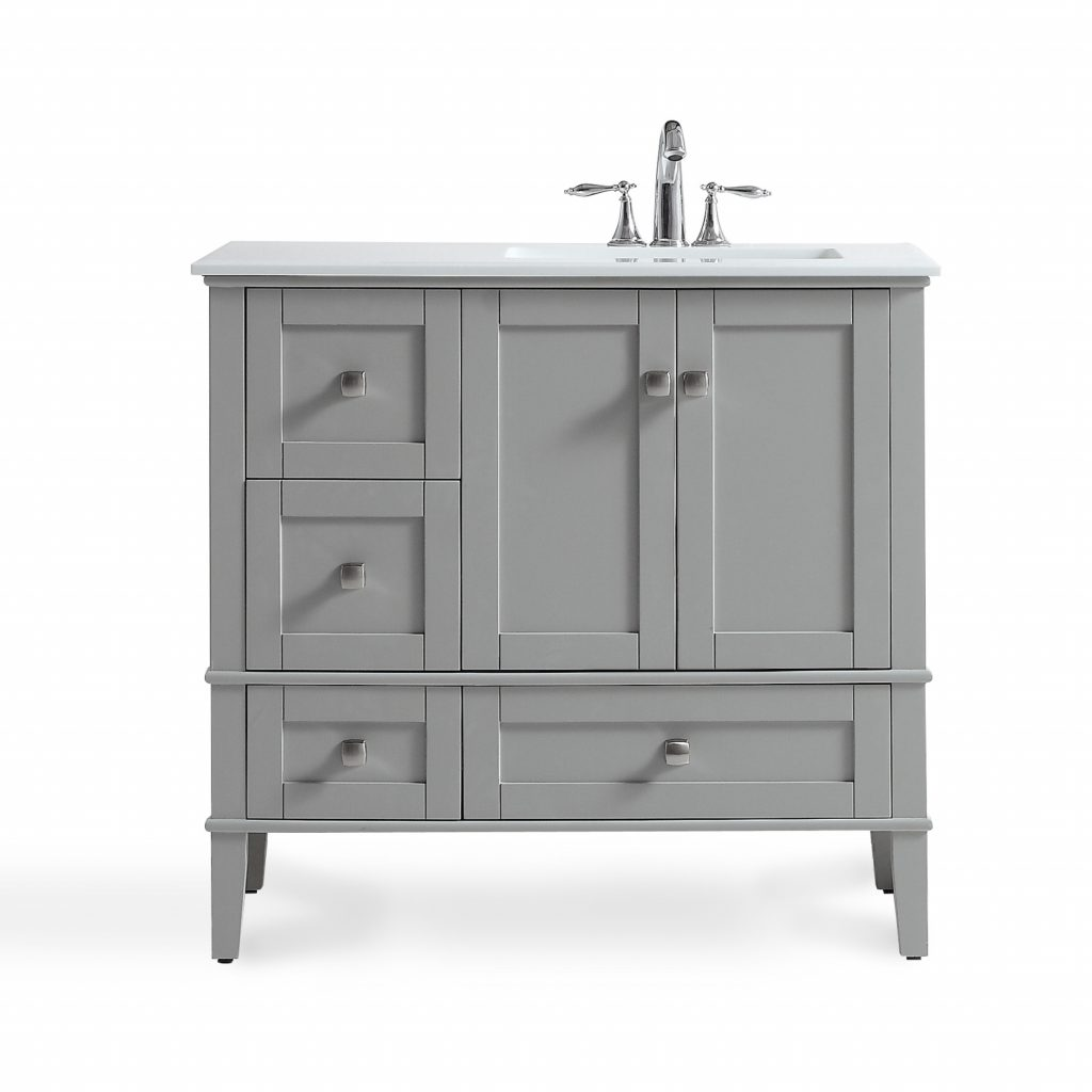 Charlton Home Burholme Right Offset 37 Single Bathroom Vanity Set
