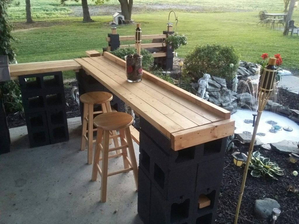 Cinder Block Patio Bar Janice Lininger Bar Diy Outdoor Bar