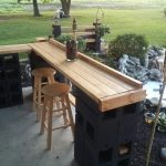 Bar and Cinder Block Planter