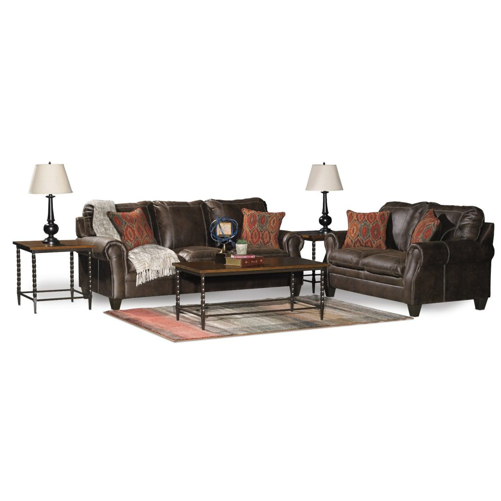 Classic Traditional Brown 7 Piece Living Room Set Shiloh Rc