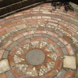 Collect Old Bricks And Stones To Make A Mosaic Patiocheap And