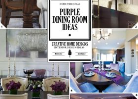 Dining Room Wall with Purple