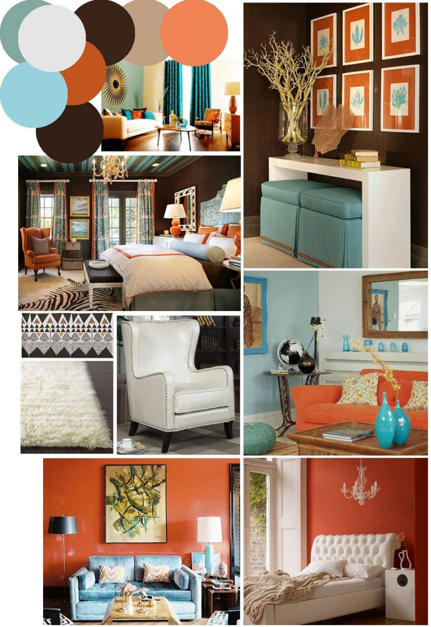 Color Palette Inspo Chocolate Brown Coral And Robins Egg Blue