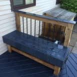 Composite Deck Bench Seating And Railing Design Deck In 2019
