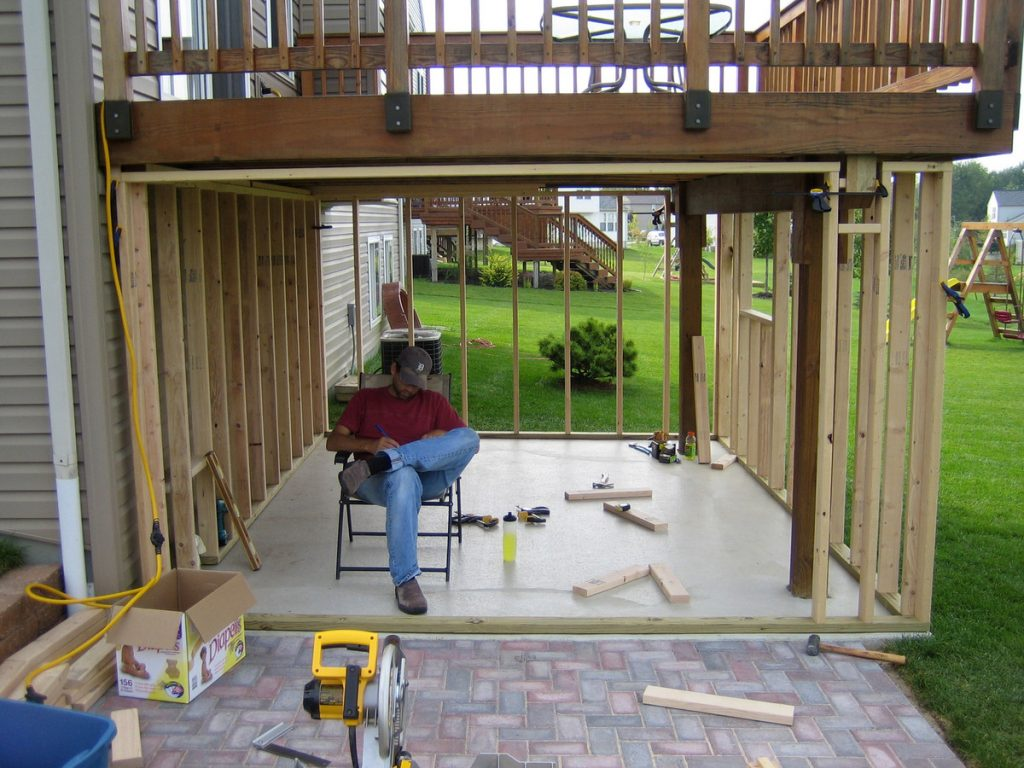 Concrete Patio Designs Under Deck Home Citizen