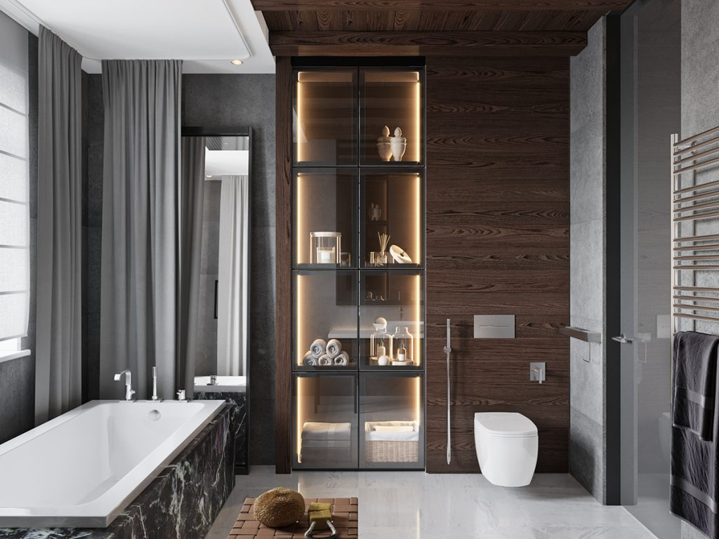 Contemporary Masculine Bathroom Bathroom Glamorous Bathroom