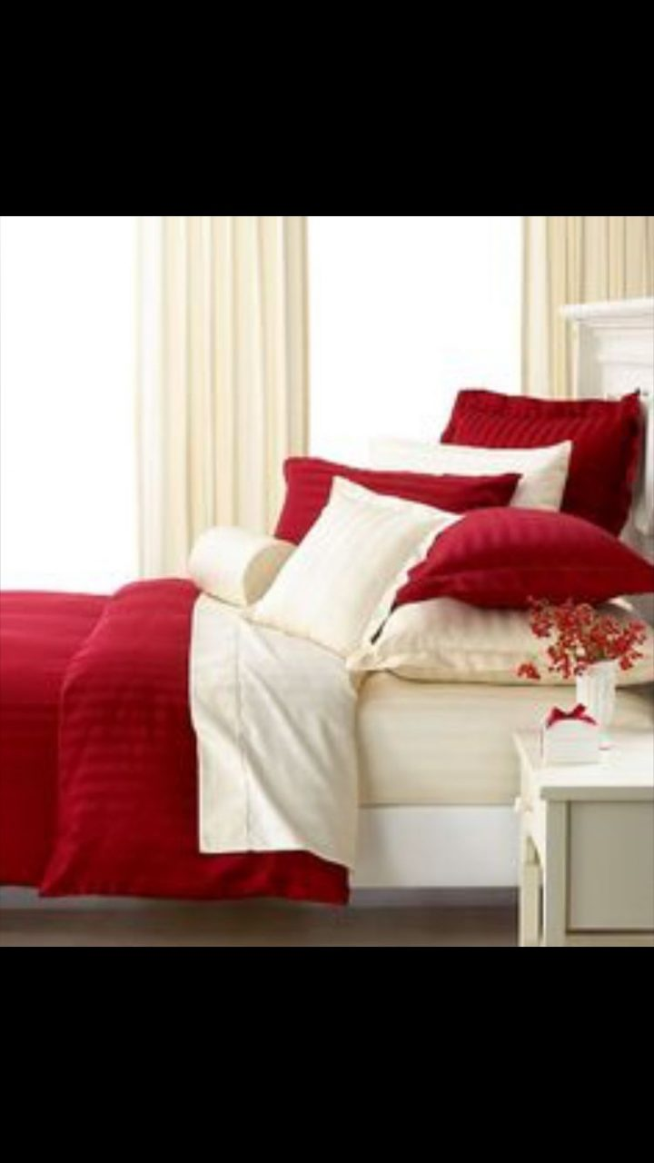Cream And Red Bedroom Idea Bedroom In 2019 Bedroom Red White