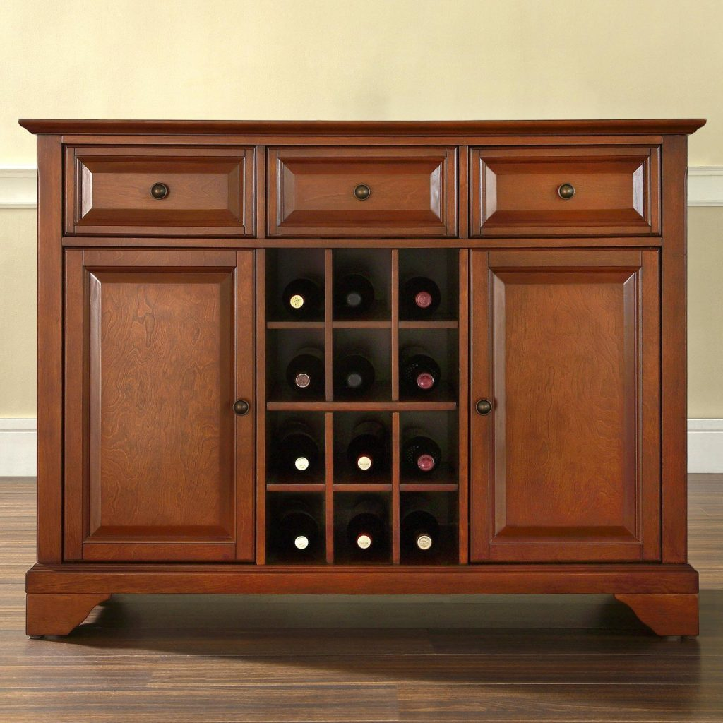Crosley Furniture Lafayette Buffet Server And Sideboard Cabinet With