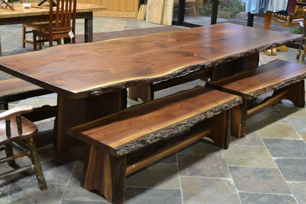 Custom Made Live Edge Walnut Slab Dining Table Landscaping Ideas