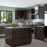 Dark Brown Kitchen Cabinets With Grey Walls Replicaoutlet