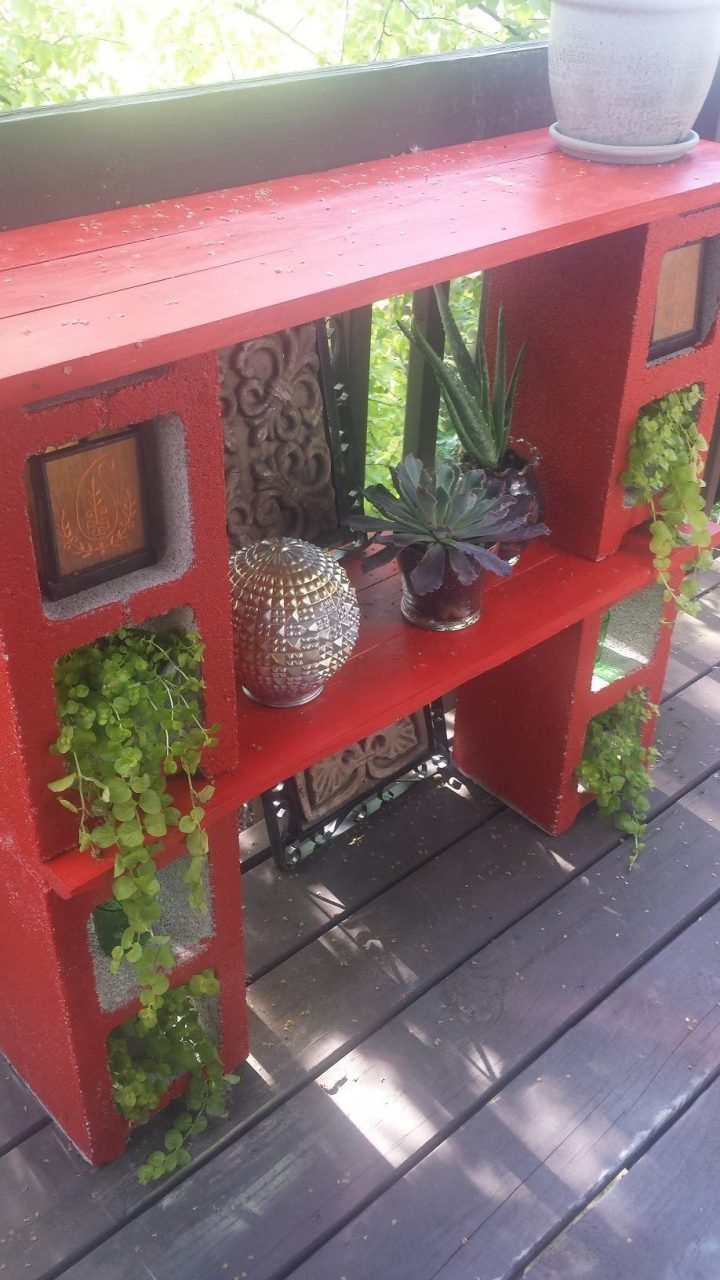 Decorating My Condo Balcony With A Diy Cinder Block Plant Stand