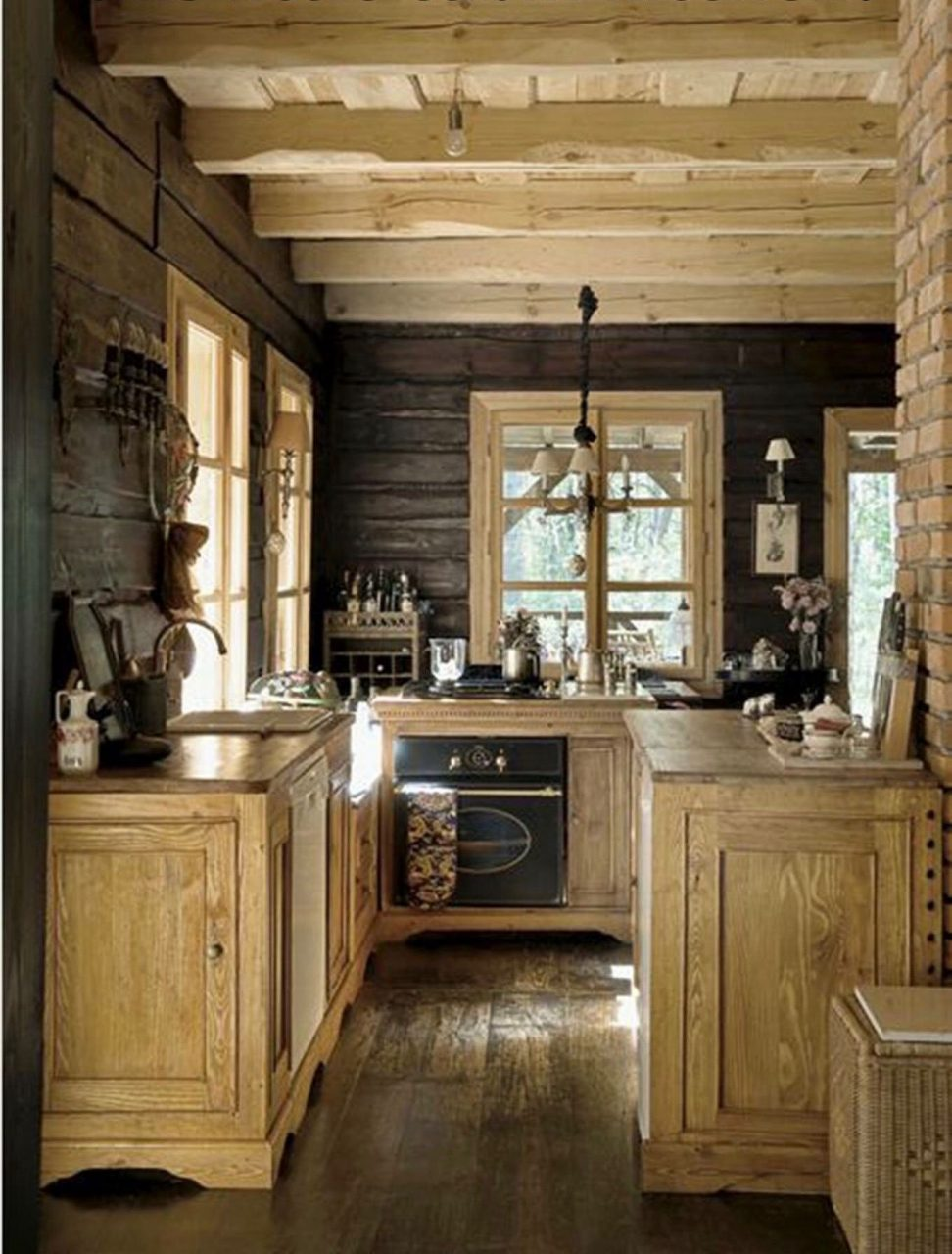 Designs Appliances Plans Log Decorating Rustic Kitchen Images Small