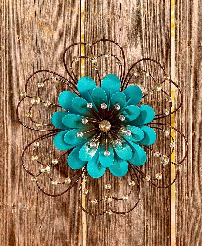 Details About Metal Sun Wall Decor Flower Rustic Garden Art Indoor
