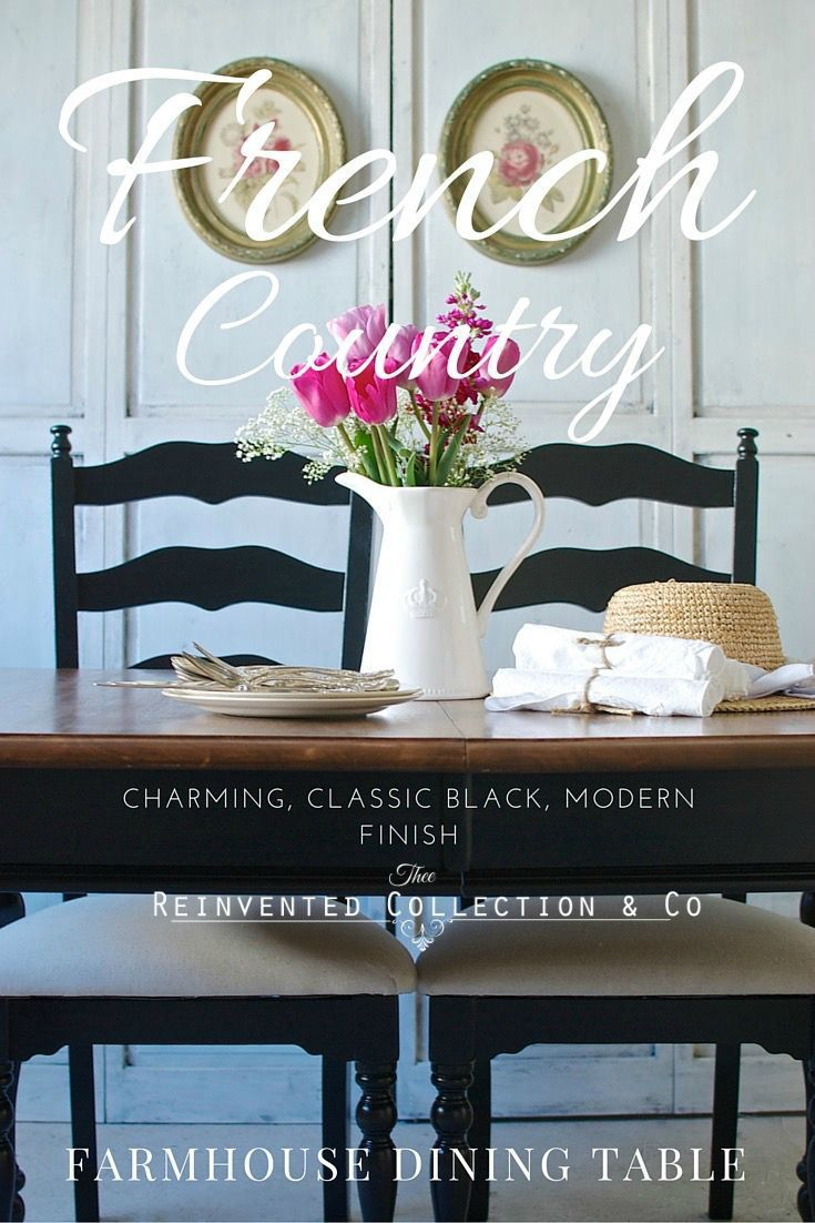 Dining Black Home Decor French Country Farmhouse Country Dining