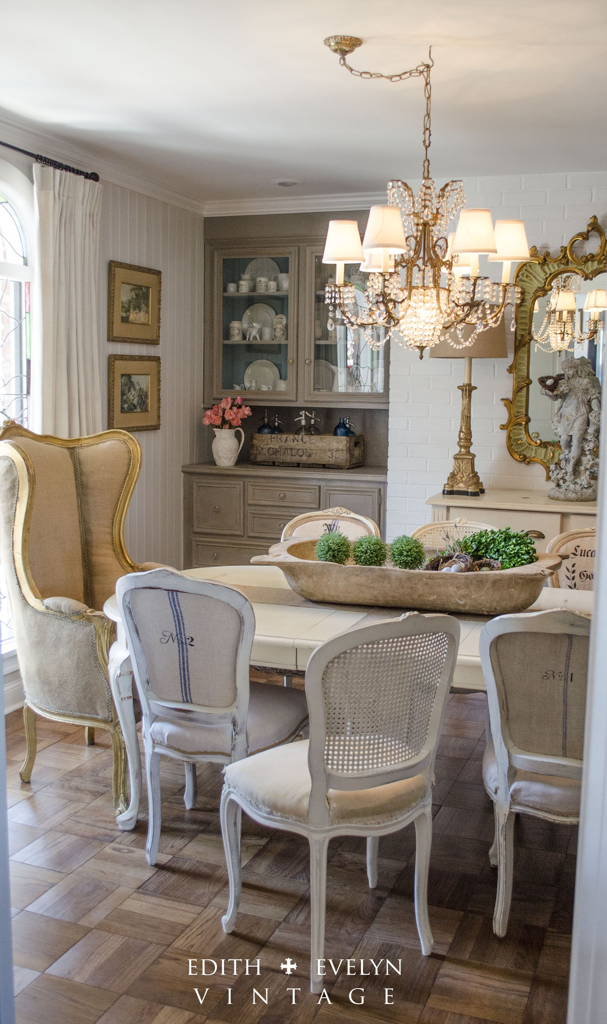Dining Room Renovation In A 1970s French Country Ranch In 2019