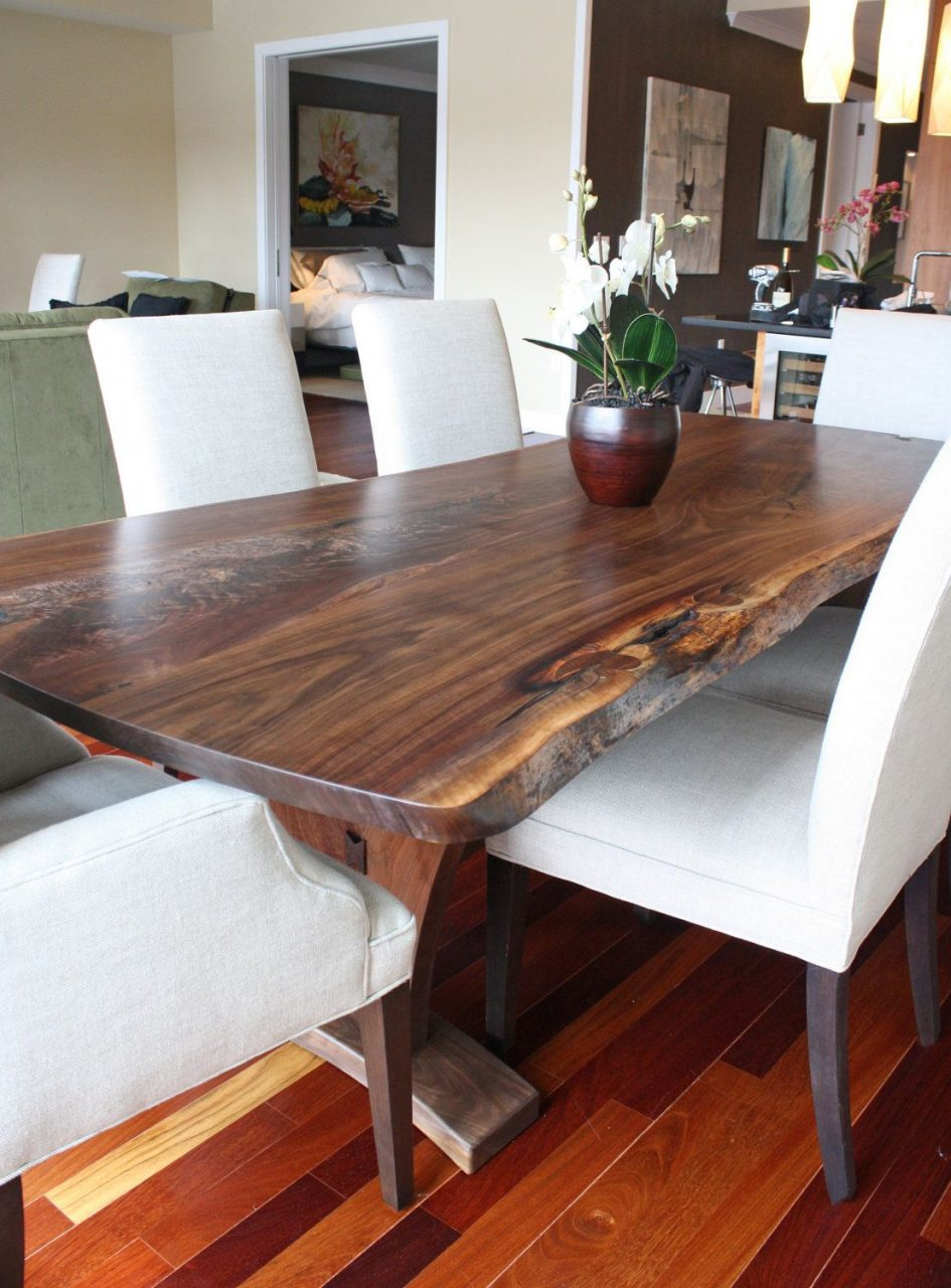 Dining Table Modern With Walnut Slab Dining Tables Modern