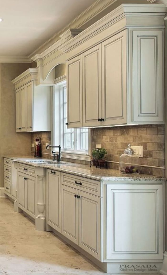 Distressed White Kitchen Cabinets New Kitchen Kitchen Remodel