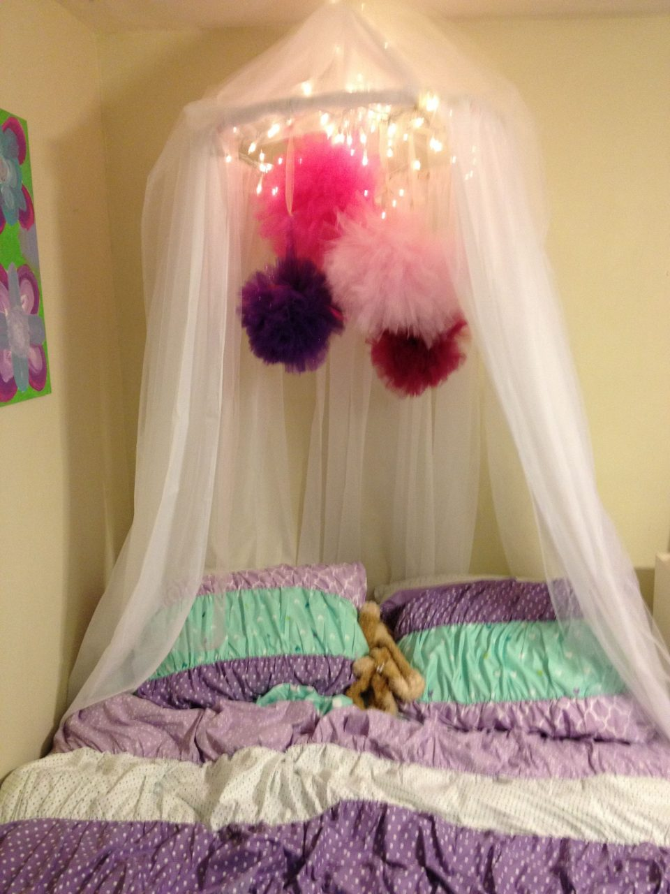 Diy Canopy Super Easy Hula Hoop And Cheap Curtains With A Little