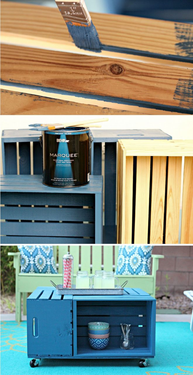 Diy Outdoor Crate Coffee Table Diy