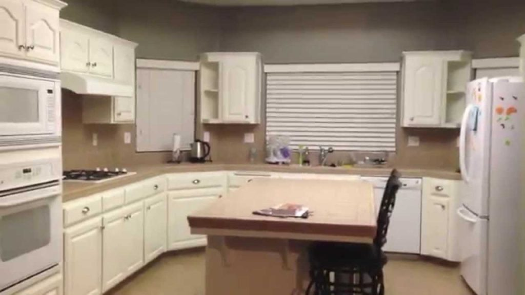 Diy Painting Oak Kitchen Cabinets White Youtube