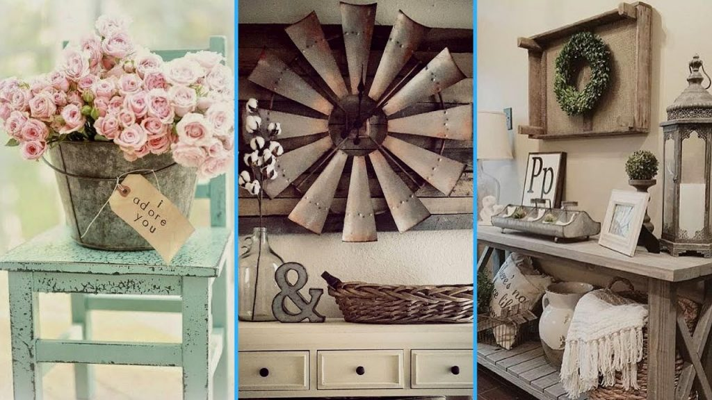 Diy Vintage Rustic Shab Chic Style Room Decor Ideas