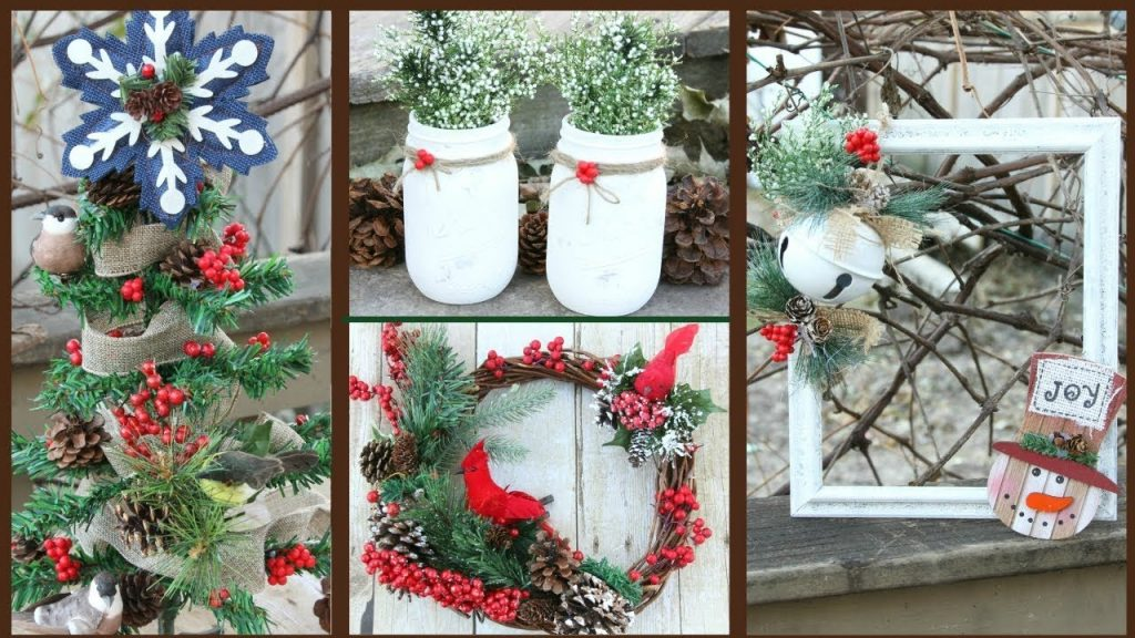 Dollar Tree Rustic Woodland Christmas Decor 2017 Youtube