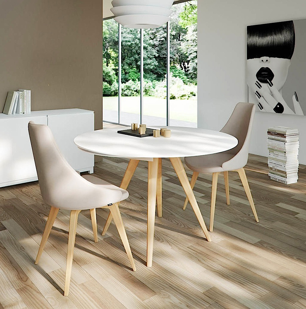 Elan Legno Round Extending Dining Table Aflair For Home