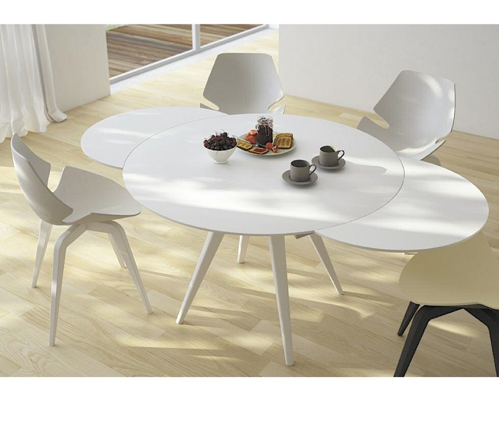 Elan Metallo Round Extending Dining Table Aflair For Home