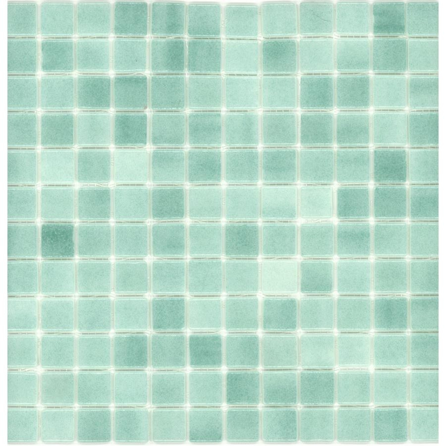 Elida Ceramica Recycled Artic Green Glass Mosaic Square Indoor