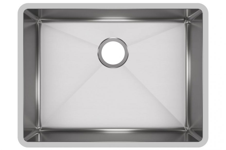 Elkay Crosstown Undermount Stainless Steel 24 In Single Bowl