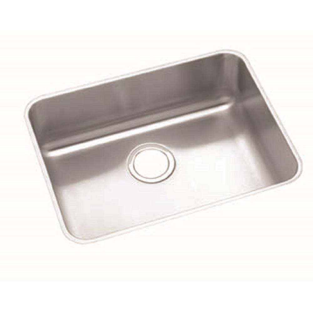 Elkay Lustertone Undermount Stainless Steel 24 In Single Bowl Ada