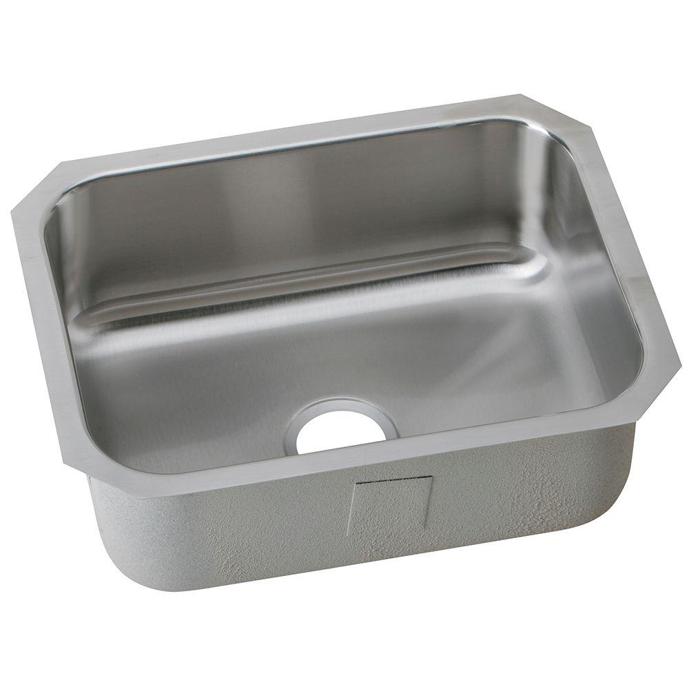 Elkay Undermount Stainless Steel 24 In Single Bowl Kitchen Sink