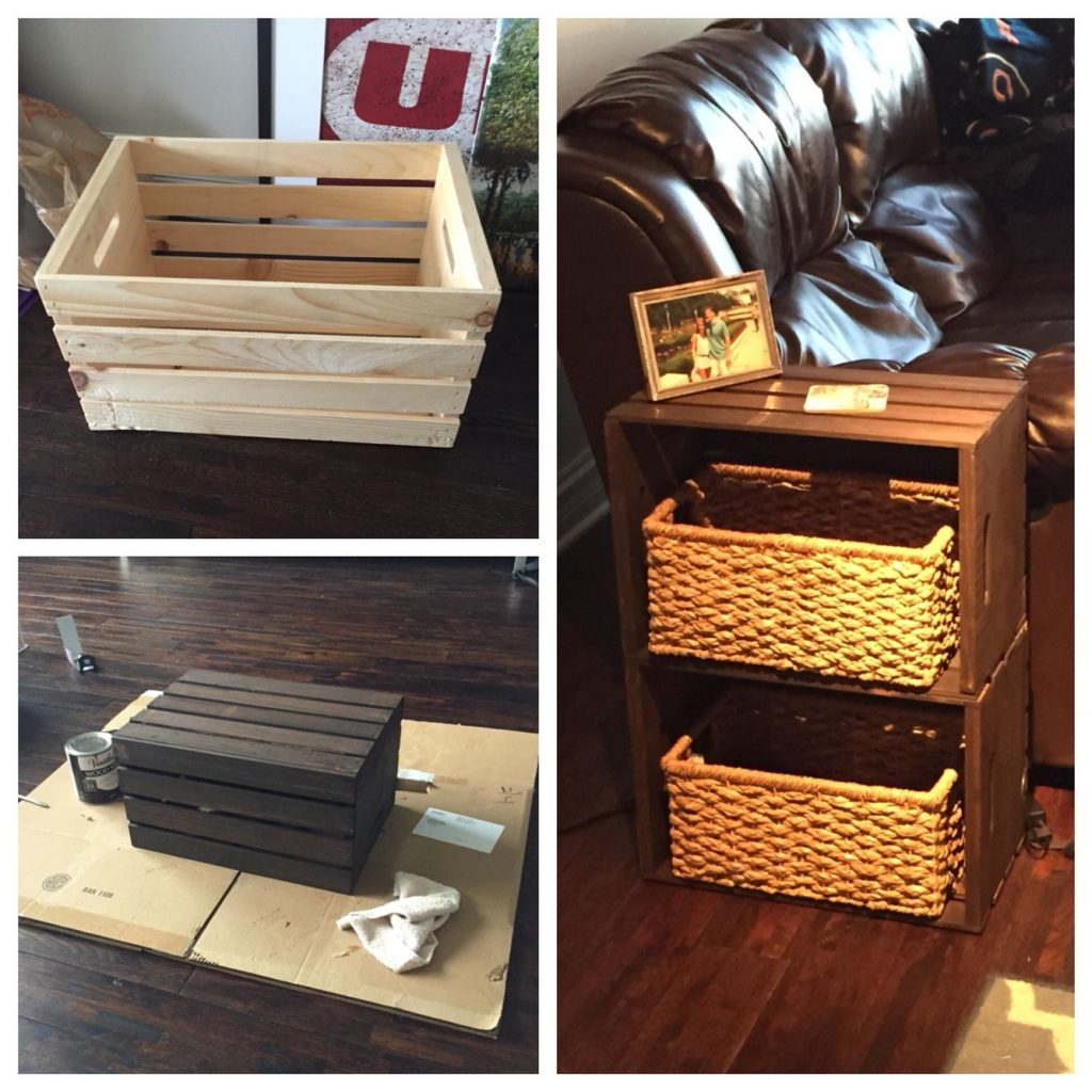End Table Made From Home Depot Wine Crates My Pinterest Projects