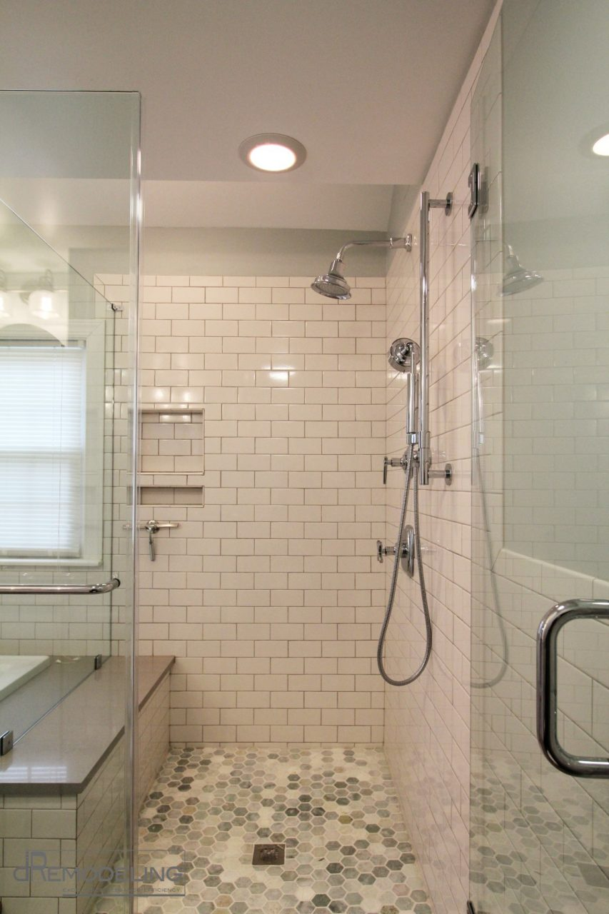 Excellent White Subway Tile Shower Vintage Bathroom Wainscoting