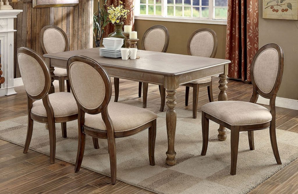 Falkner Transitional Dining Table Set