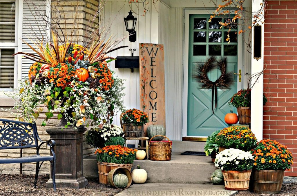 Fall Decor Unique Outdoor Fall Decorations Front Door Ideas For
