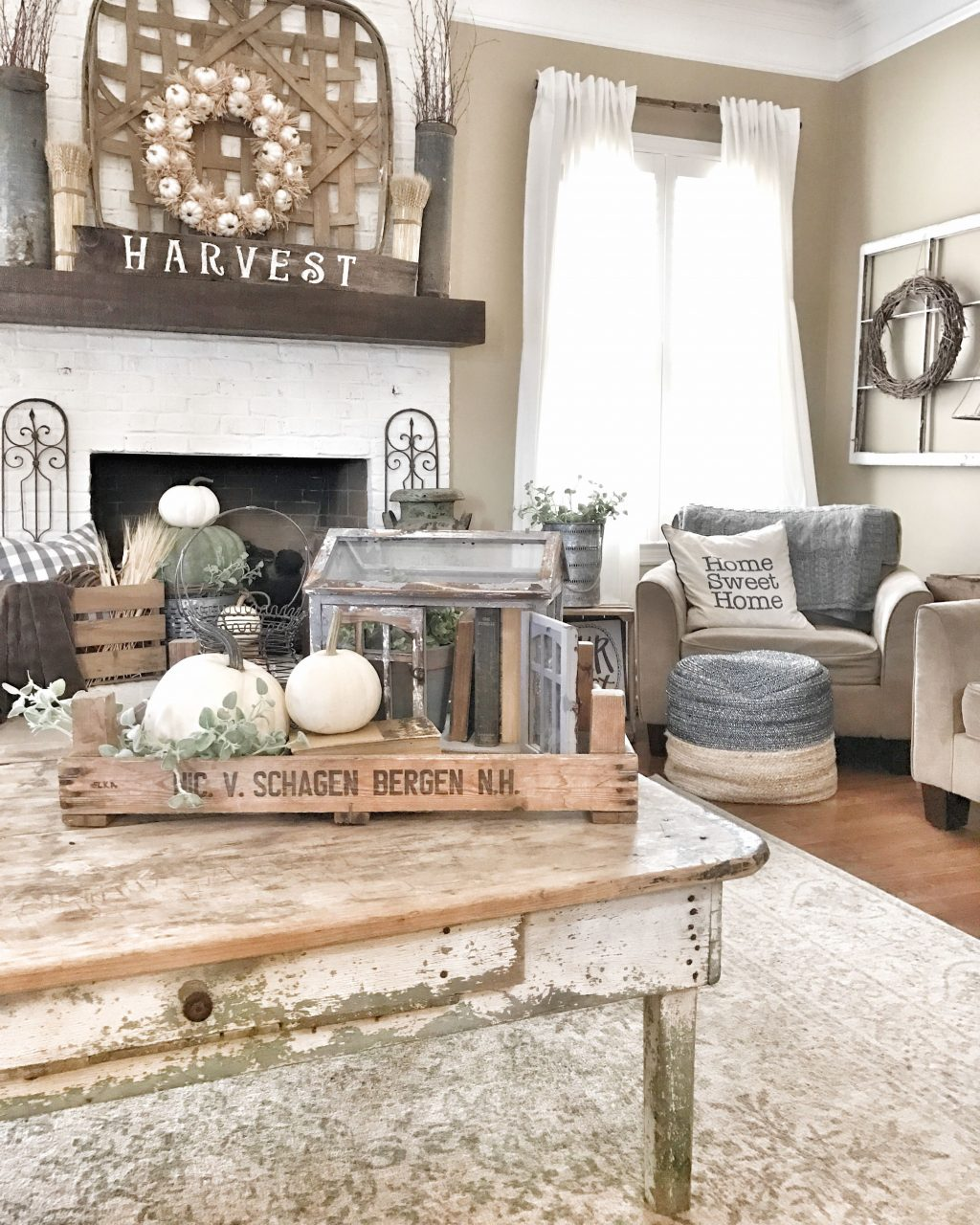 Fall Farmhouse And Rustic Living Room Ig Blessthisnest