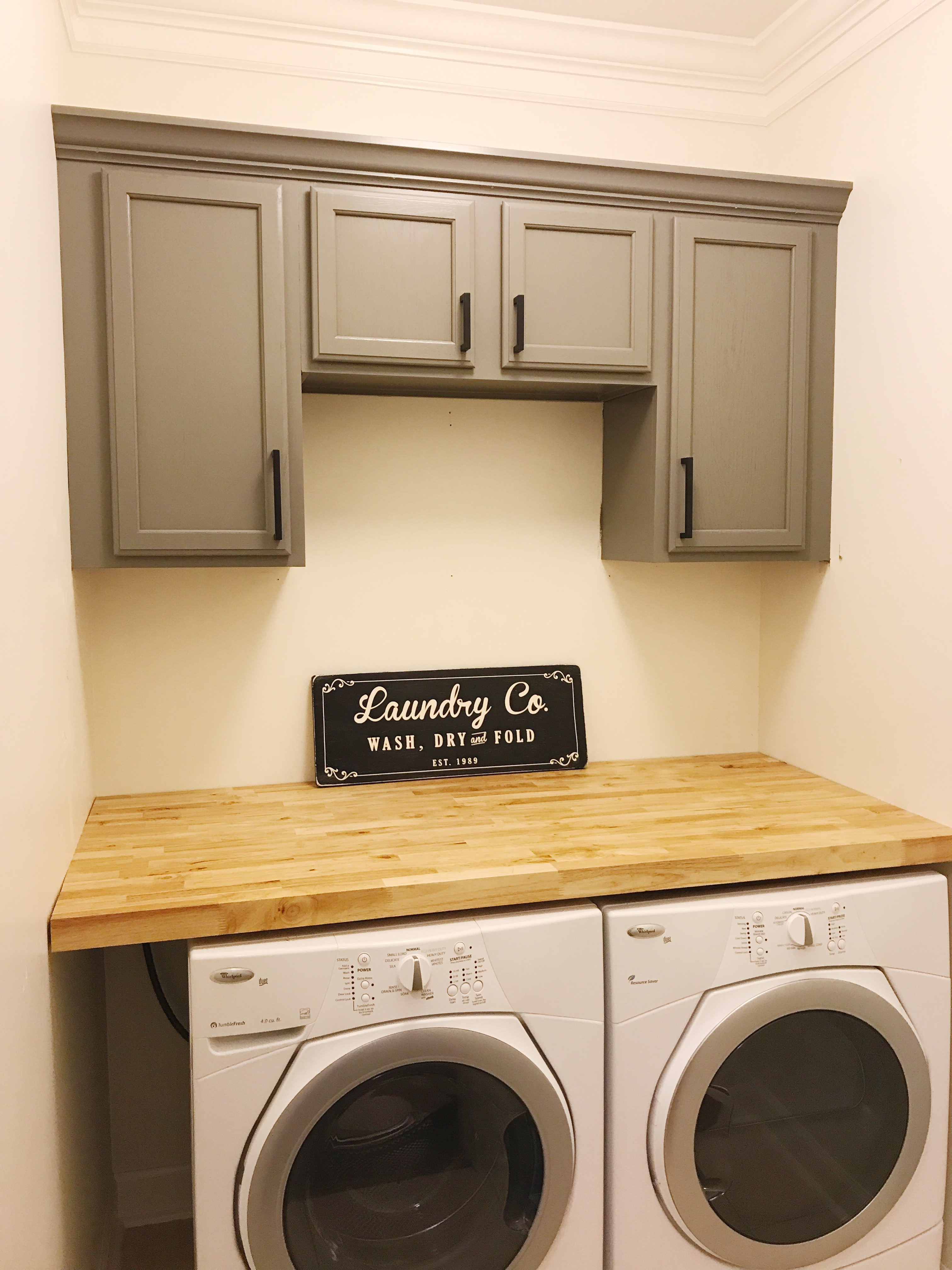 Farmhouse Laundry Room Installing Countertop And Cabinets Orc Week