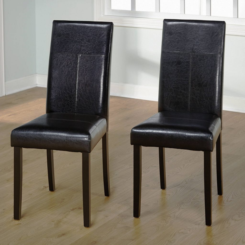 Faux Leather Parson Dining Chair Set Of 2 Ebay