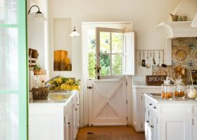 White Dutch Door Kitchen