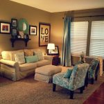 Gold Brown Teal Living Room