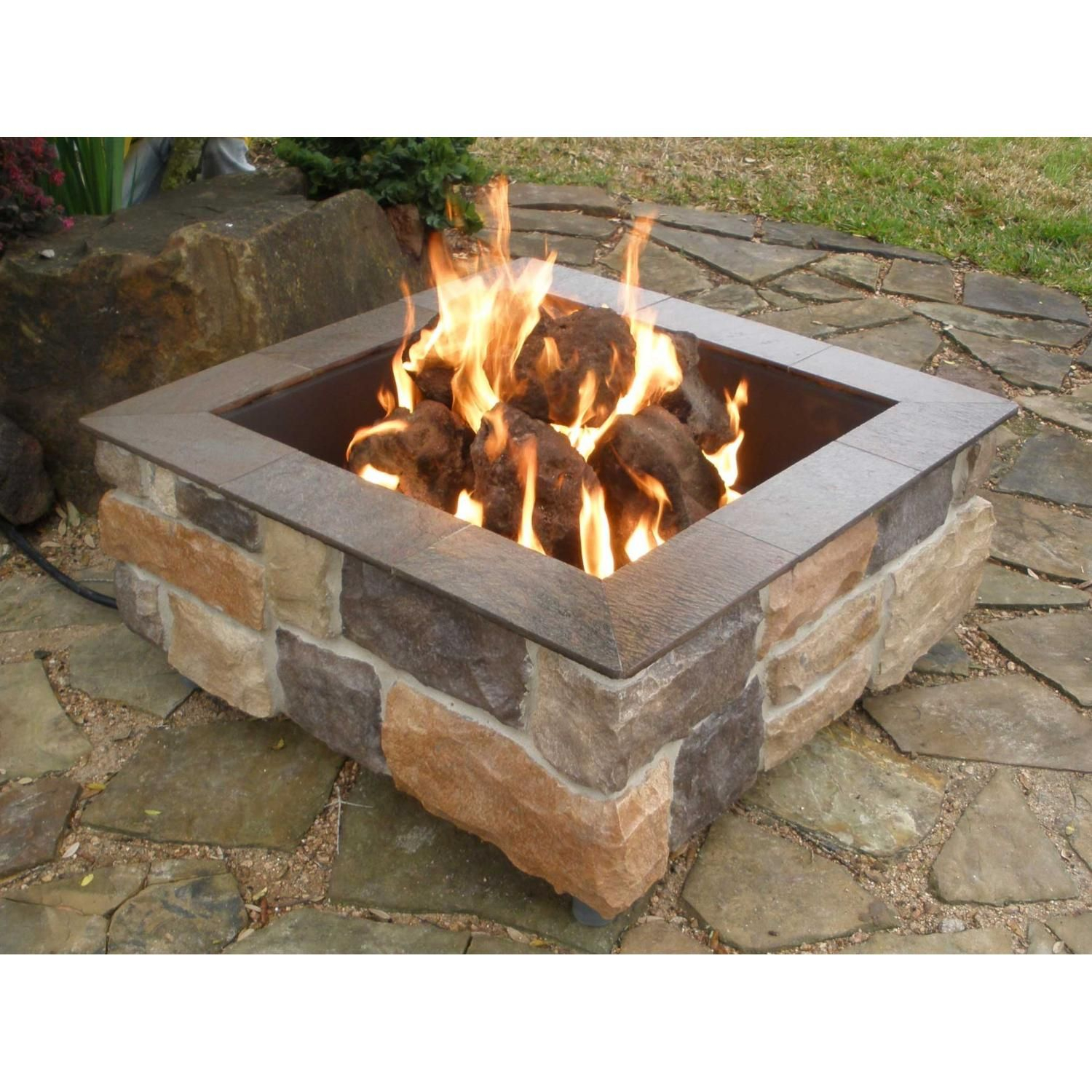 Firescapes Smooth Ledge Square Natural Gas Fire Pit In 2019 Unique