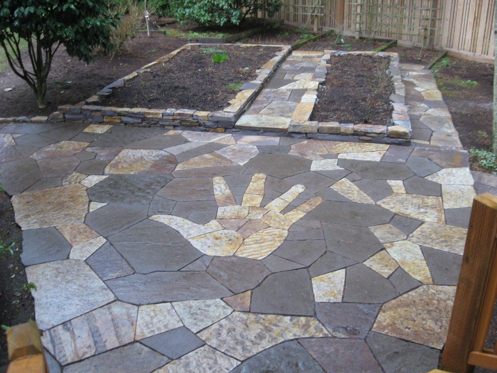 Flagstone Patio Design Hand Mosaic Shepherd Stoneworks Blog