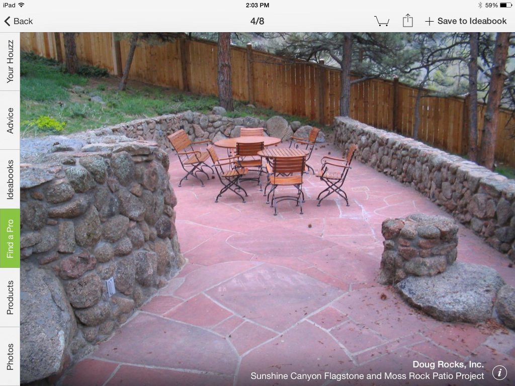 Flagstone Patio Hand Cut And Moss Rock Wall All Doug Rocks