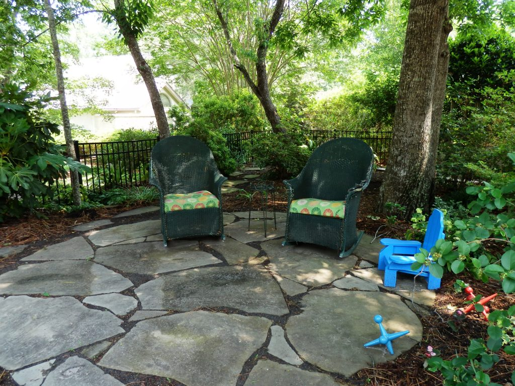 Flagstone Patio Under Trees Google Search The Lazy Gardener