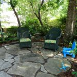 Flagstone Patio Under Tree