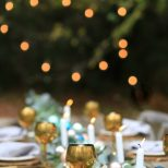 French Style Christmas Table Out Under The Stars French Country