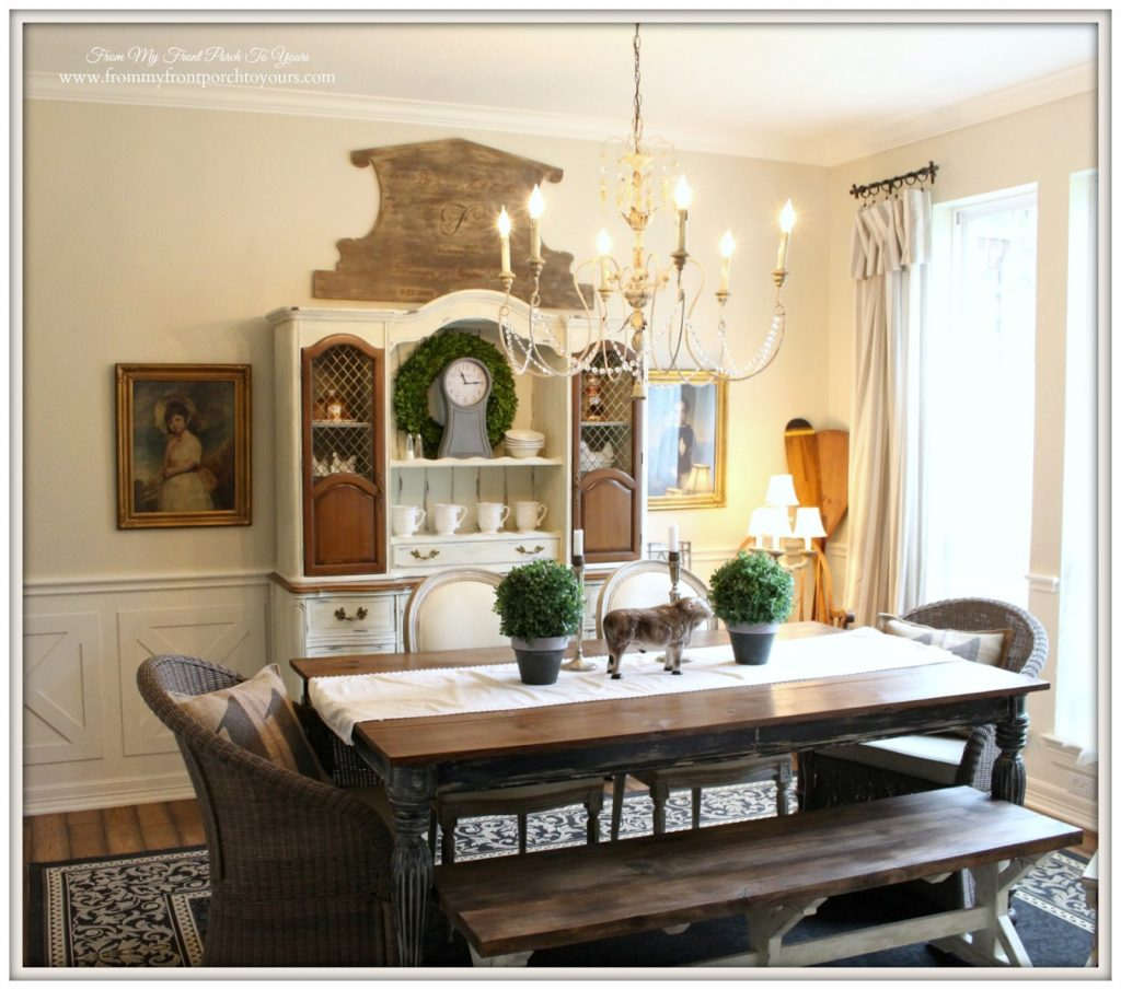 From My Front Porch To Yours French Country Farmhouse Dining Room